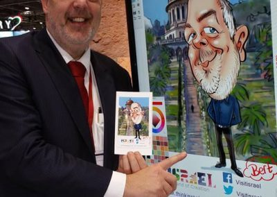 LC - Live reveal _Digital caricature by Luisa Calvo at WTM 2016